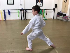 Young white belt